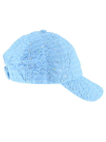 GBC-LTBLUE#Glitter Sequin Baseball Cap Light Blue
