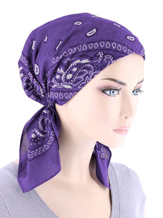 CE-BDNASCARF-PURPLE#Bandana Scarf in Purple