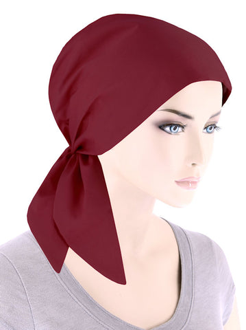 SCS-CRIMRED#Cotton Scarf in Crimson Red