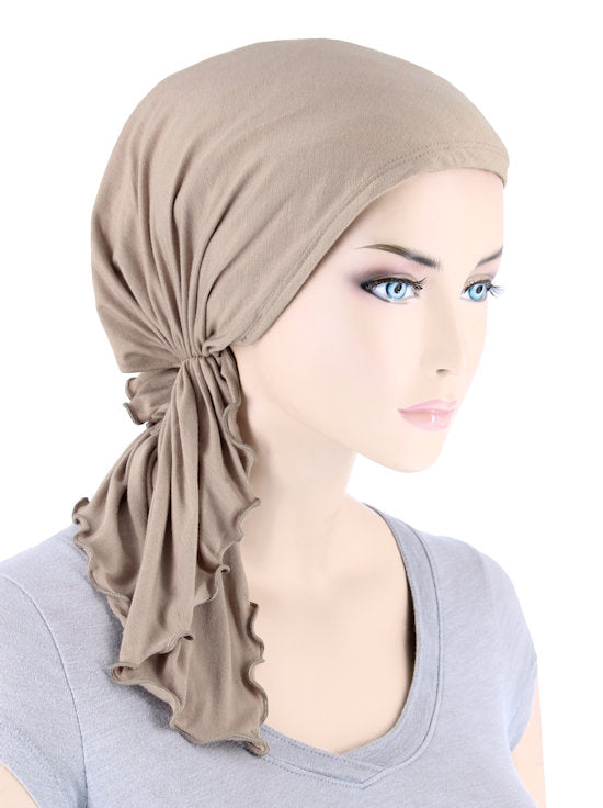 BELLA-BB-777#The Bella Scarf Bamboo Champagne Beige
