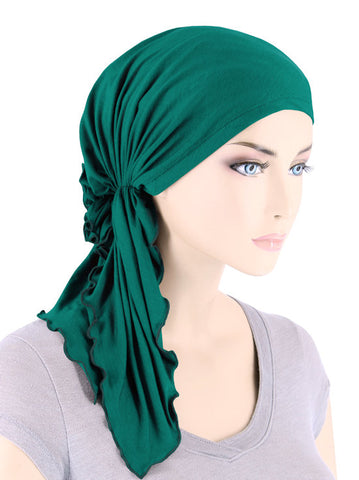 BELLA-BB-794#The Bella Scarf Bamboo Emerald Green