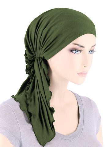 BELLA-BB-795#The Bella Scarf Bamboo Olive Green