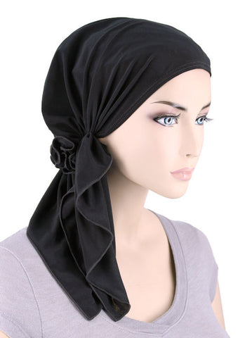 BELLA-680#The Bella Scarf Raven Black