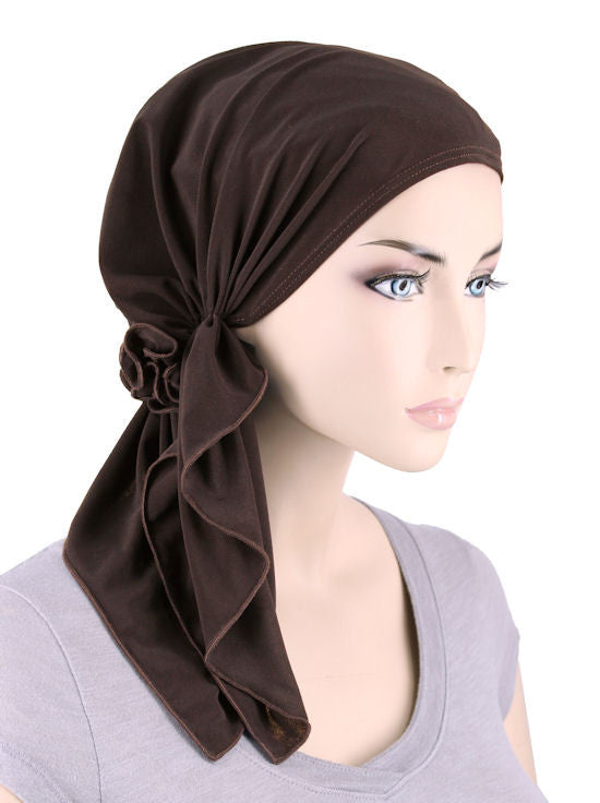 BELLA-683#The Bella Scarf Chocolate Brown