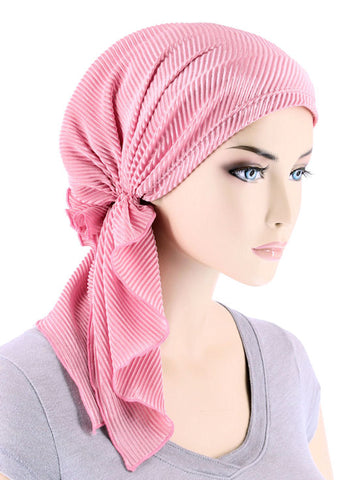 BELLA-705#The Bella Scarf Plisse Pearl Pink