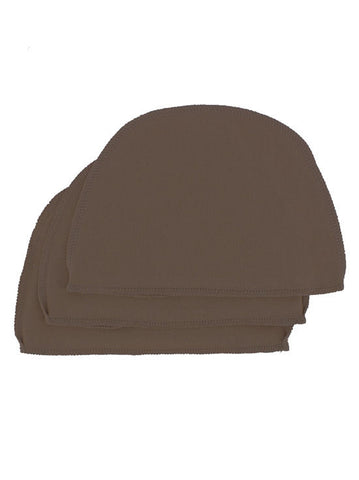 WL-BROWN#Cotton Wig Liner in Brown 3 Pack
