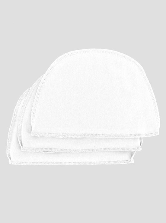 WL-WHITE#Cotton Wig Liner in White 3 Pack