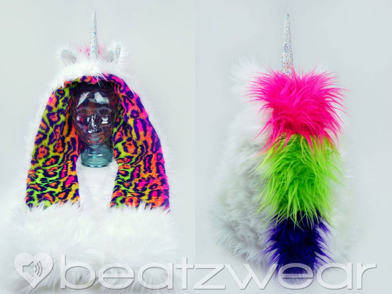 Beatzwear lisa frank inspired unicorn scoodie