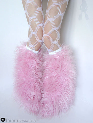 Superpoof fluffies baby pink