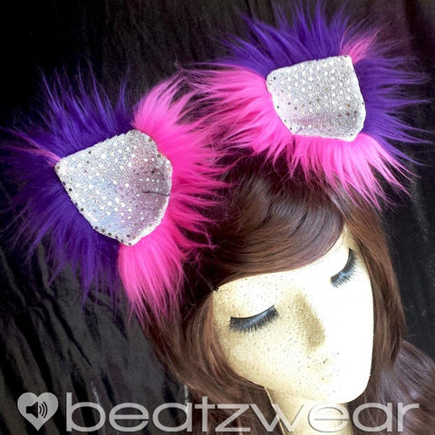 Cheshire Cat inspired Disco Kitty ears