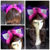 Cheshire Cat ears - pink and purple Cheshire Cat inspired cat ears