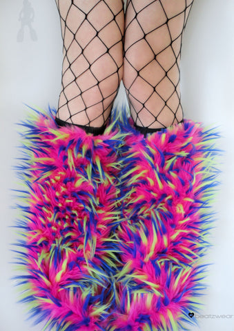 Festival fluffies uv hot pink/blue/lime