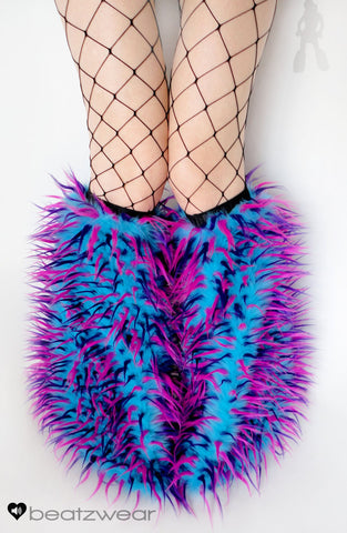 Festival fluffies uv turquoise/pink/purple
