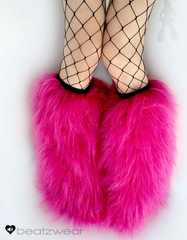 Glitter fluffies uv hot pink
