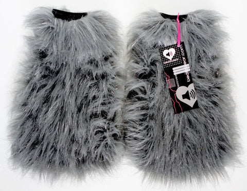 Gray glitter fluffies - standard fit (ready to ship)