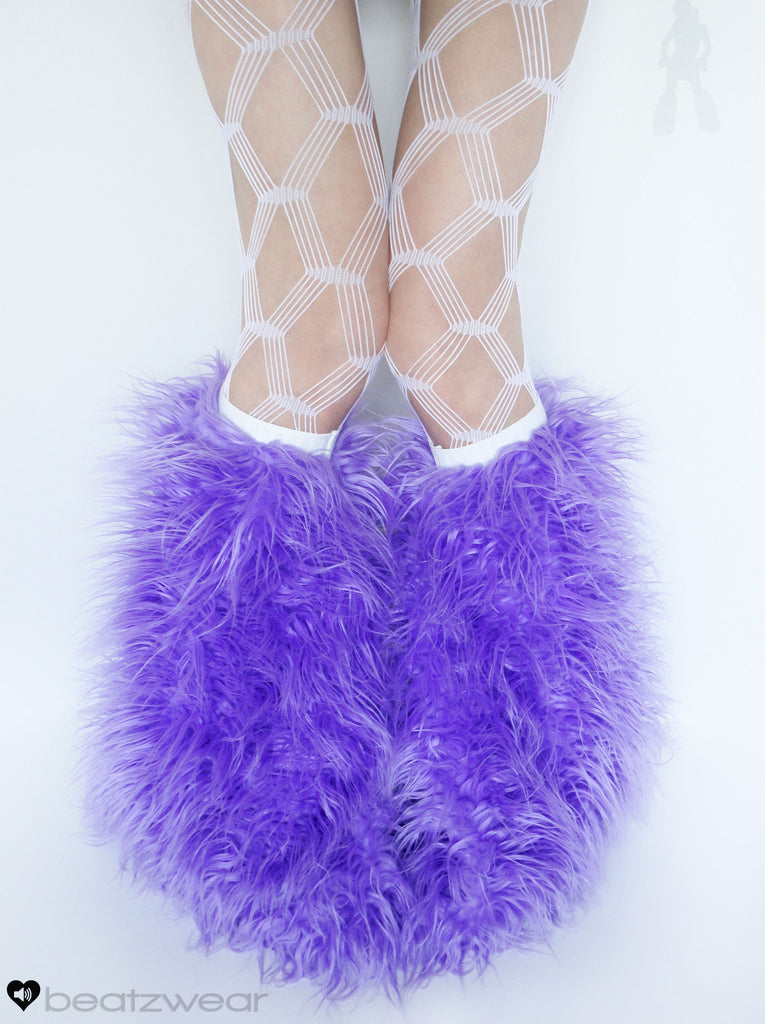 Lavender superpoof fluffies - short gogo style (ready to ship)