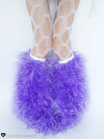 Lavender superpoof fluffies - short gogo style