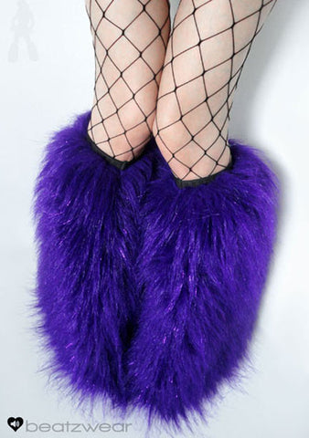 Glitter fluffies purple