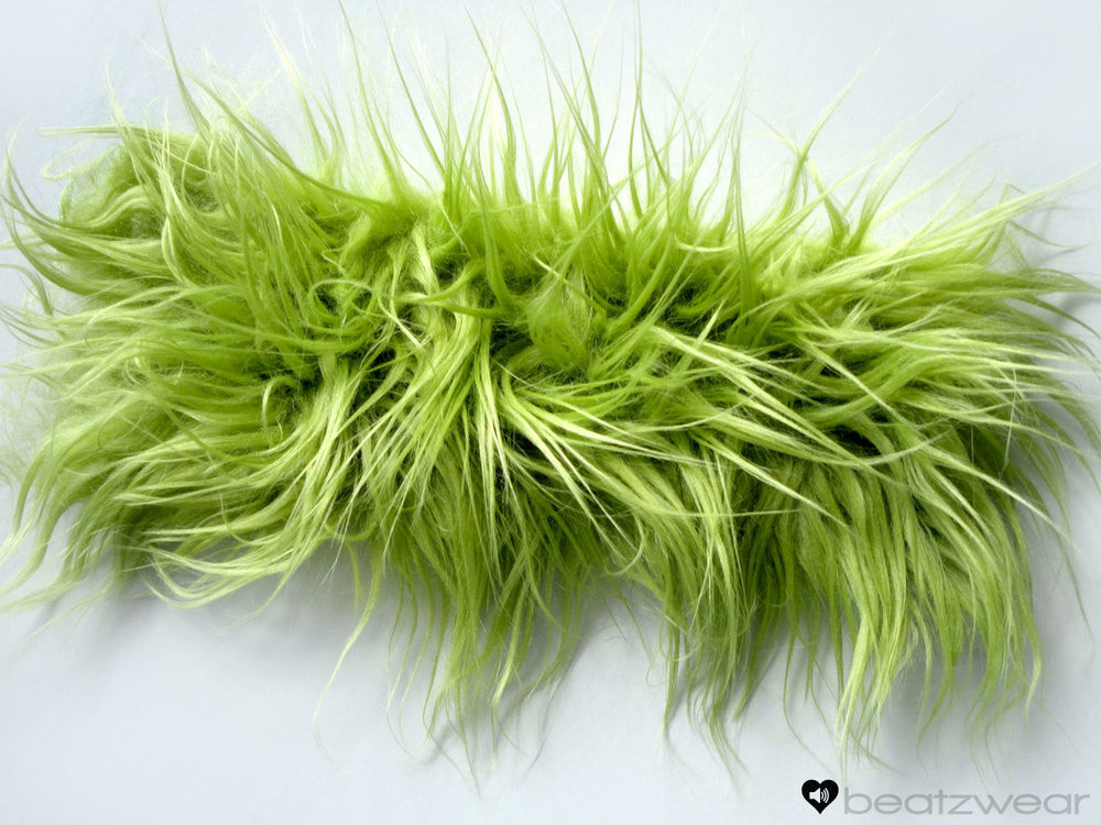 Olive superpoof fluffies - short gogo style (ready to ship)