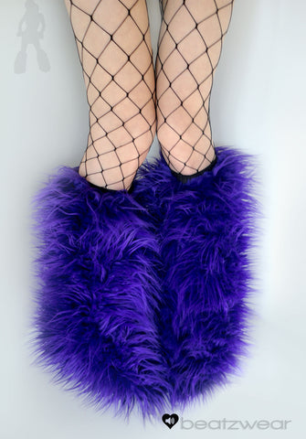 Purple superpoof fluffies - short gogo style (ready to ship)
