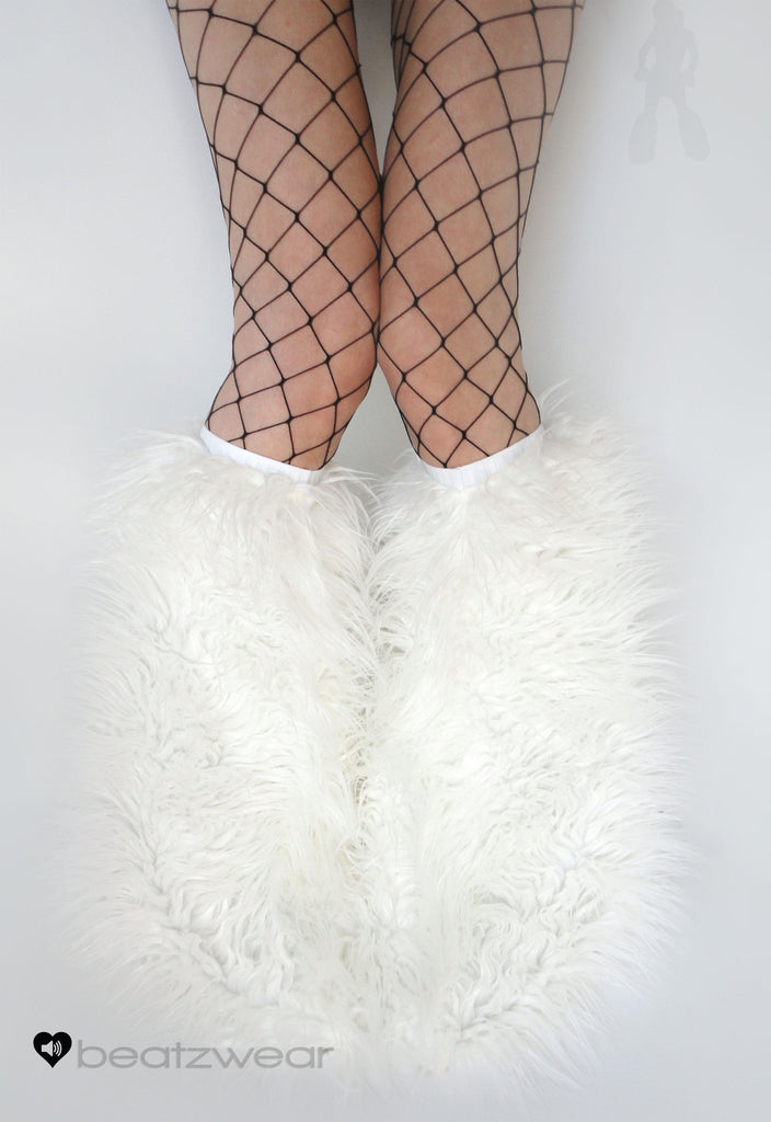Superpoof fluffies uv white - Beatzwear