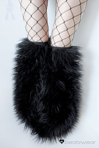 Thigh high fluffies superpoof black