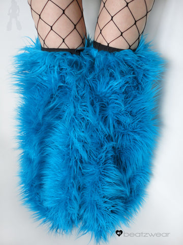 Thigh high fluffies superpoof turquoise
