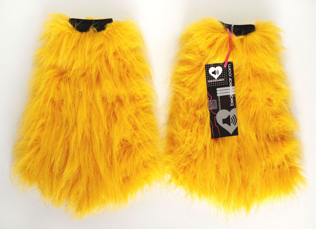 Glitter fluffies yellow - Beatzwear