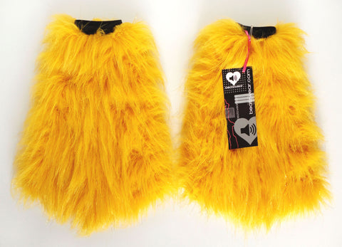 Glitter fluffies yellow