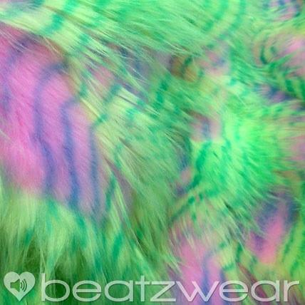 Feather Fur Fluffies neon yellow - Beatzwear