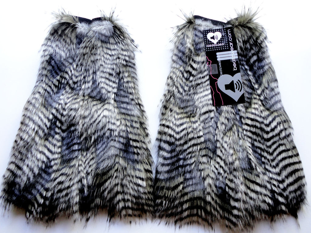 Feather fur fluffies gray - Beatzwear