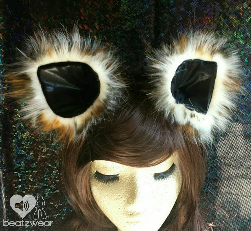 Disco kitty ears - Leopard print - Beatzwear