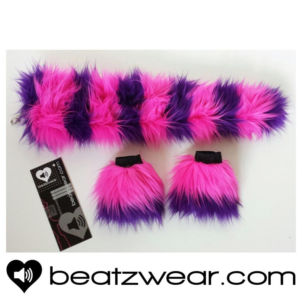 Cheshire Cat inspired tail and wrist cuffs - Beatzwear