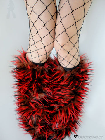 Festival fluffies uv red/brown/black