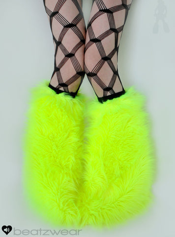 Neon yellow fluffies UV - short gogo style (ready to ship)