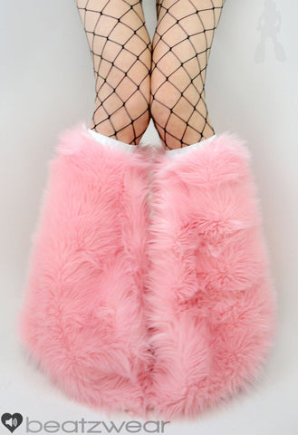 Baby pink short plush fur fluffies- standard fit (ready to ship)