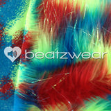 Tie dye fluffies - glitter red lime turquoise - Beatzwear - 2