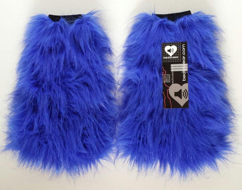 Blue glitter fluffies - standard fit (ready to ship)