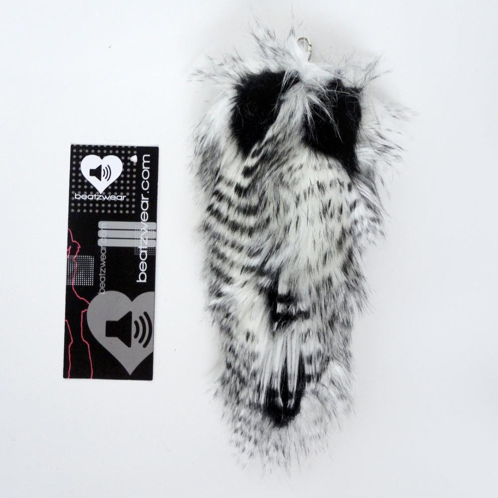 Fox tail - feather fur black and white - Beatzwear