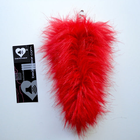 Red glitter fox tail