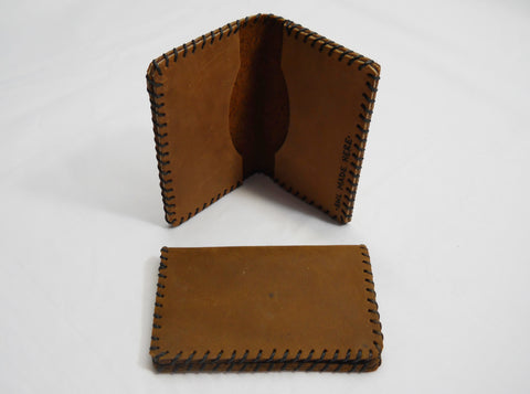 Two Pocket Card Holder, Brown
