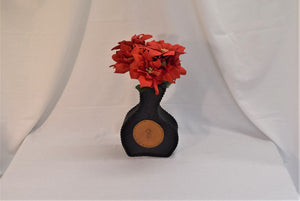 leather flower vase