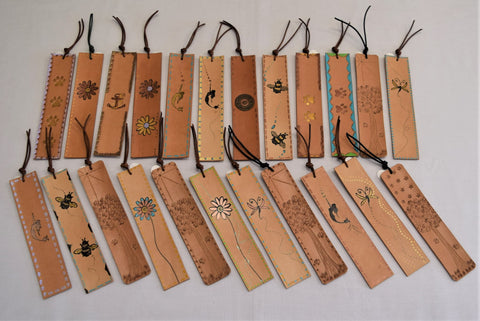 BULK! leather bookmarks x 6