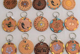 BULK! leather key rings x 6
