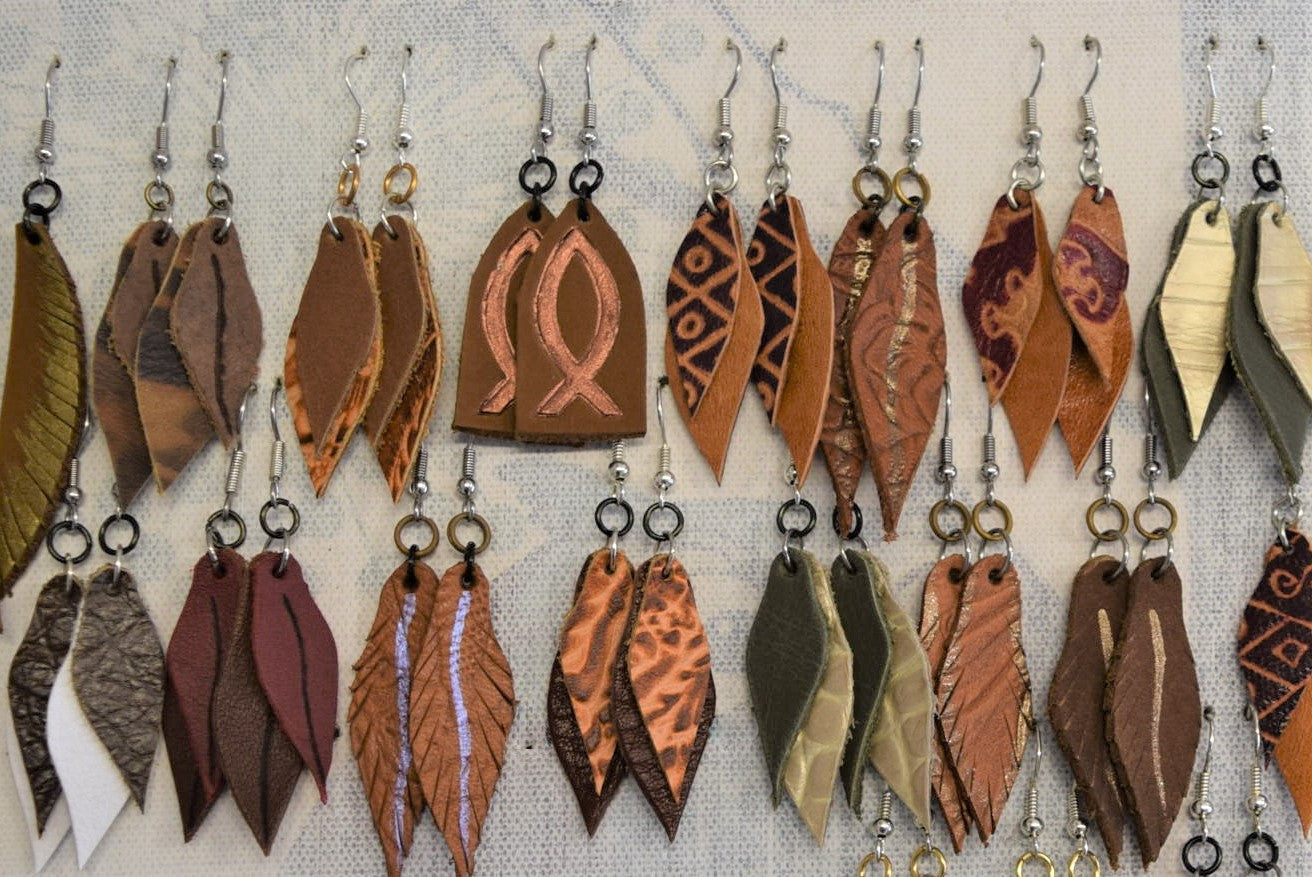 Leather Earrings, small