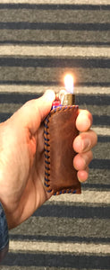 leather lighter cases