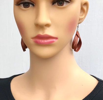 Leather Loop Earrings