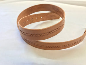 Leather belt, tooled center