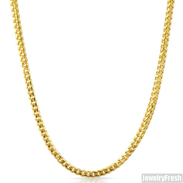 IP Gold Steel 4mm Miami Franco Chain