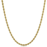 4mm Gold Plated French Rope Chain Necklace